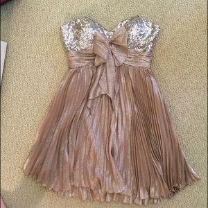 Sherri Hill Dresses & Skirts - Sherri hill short prom dress 4 champagne