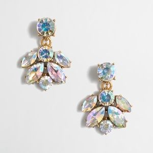 J. CREW CRYSTAL CLUSTER DROP EARRINGS
