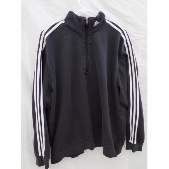 Zipper Vintage Oversized Pullover 3 Stripes Adidas CBEdWxQroe