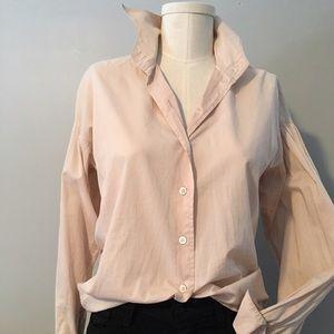 Dries van Noten blush poet sleeve blouse size 36
