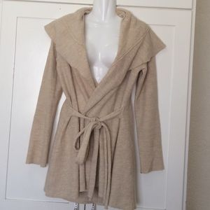 "ANTHROPOLOGIE ""Moth"" 100% Wool Belted Cardi"