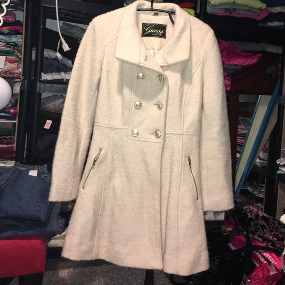 modern techniques find workmanship look out for Womens guess long Coat size S