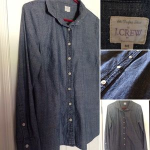 J. Crew Factory Dotted Chambray