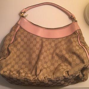 47b12bc8bc0 Gucci Bags - Gucci Monogram Large D Shoulder bag Pink