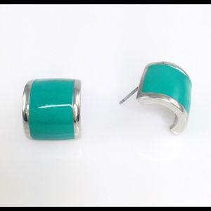 Adia Kibur Jewelry - Teal and Silver Earrings