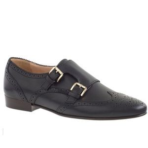 J. Crew Perforated Monk Strap Loafer