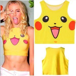 Tops - Pikachu Pokeman Crop Top! NWTs! 💖