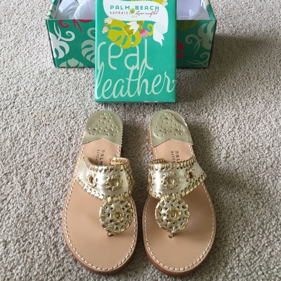 97ca5d3c570dc9 Jack Rogers Shoes - Gold Platinum Palm Beach Sandals