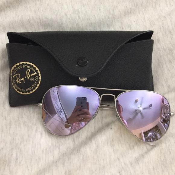 ray ban lilac aviator