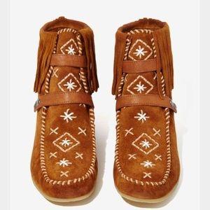 Shoes - Sam Edelman Katherine suede moccasin bootie