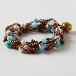 Anthropologie Beaded Wrap Bracelet