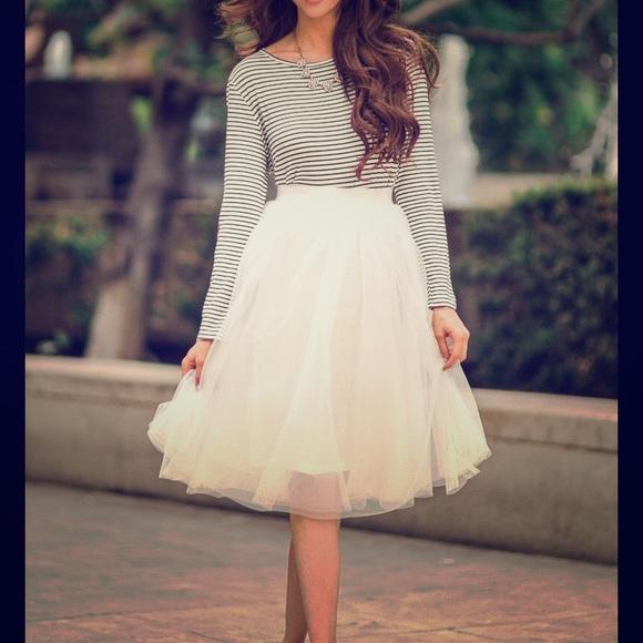 854676f3ee Esley Skirts | White Tulle Skirt | Poshmark