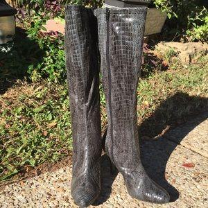 Diba Shoes - DIBA Knee High Snake Skin Looking Boots