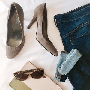 f7d6e0c30 Nine West Shoes - Nine West   Handjive Round Toe Pumps in Grey Suede