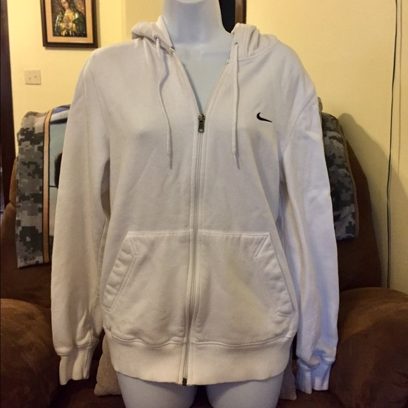 87% Off Nike Jackets U0026 Blazers - White Nike Zip-up Hoodie From Tina Marieu0026#39;s Closet On Poshmark