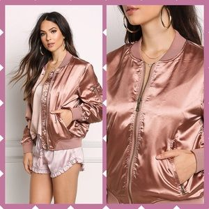 Boutique Jackets & Blazers - 🎉2xHP GORGEOUS rose gold bomber as seen on celebs