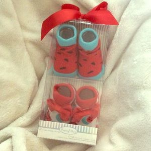 Rising Star Other - Baby 0-12 Month Watermelon Socks NWT 🍉😍 CUTE!!