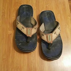 Shoes - Leather flip flops