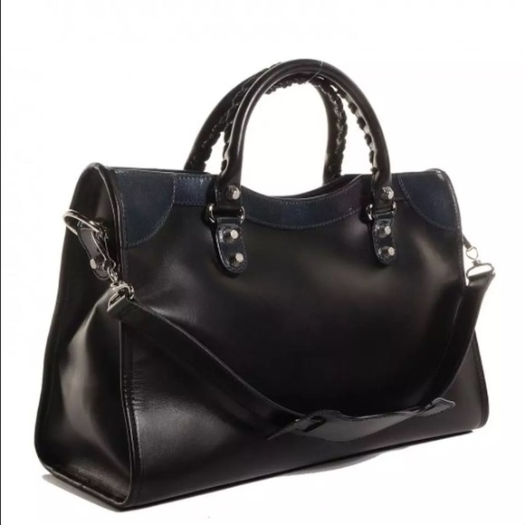 Balenciaga Bags - Balenciaga City Giant 12 Patent Leather & Leather