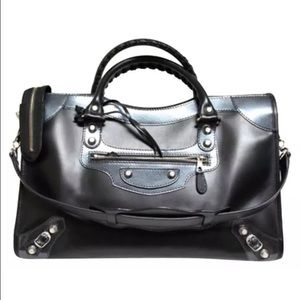 Balenciaga Handbags - Balenciaga City Giant 12 Patent Leather & Leather