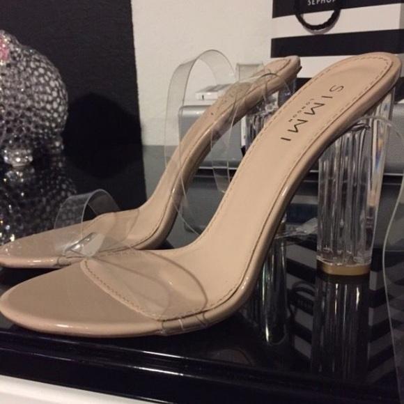 Kim Kardashian Clear Perspex Heels
