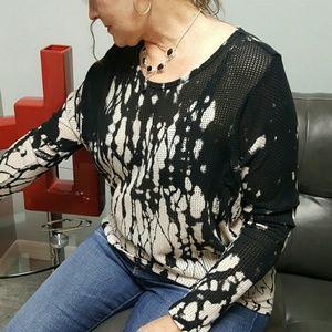 XCVI Tops - 🚨SALE- XCV1 Tie Die High Low Shirt