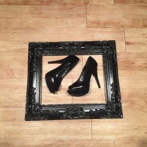 City Streets Shoes - Black Platform Heels
