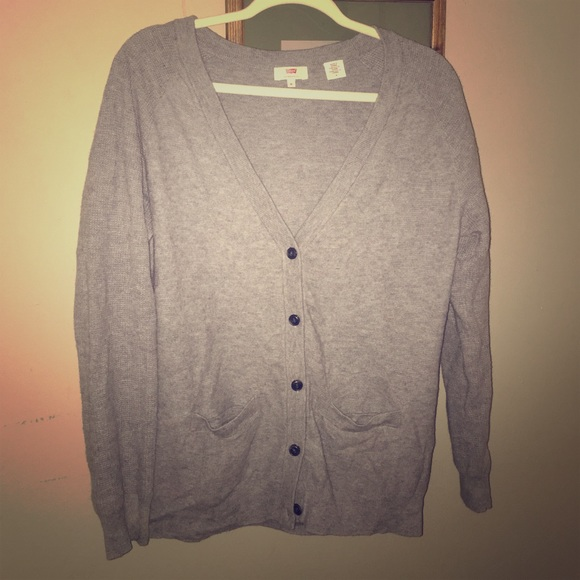 Levi/'s grey sweater with buttons