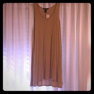 • Light tan sleeveless tunic •