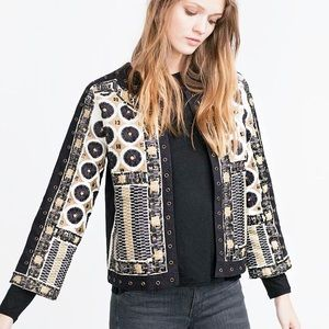 Zara Jackets & Blazers - 💞HP💞 ZARA Embroidered Embellished Aztec Jacket