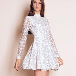 """""""Paper Nautilus"""" Mini Lace Flare Dress"""