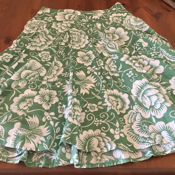 NIC+ZOE Dresses & Skirts - Green floral skirt
