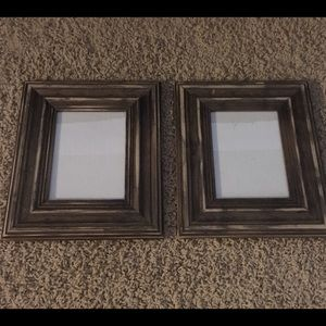 Two Distressed Wood Picture Frames 5x7