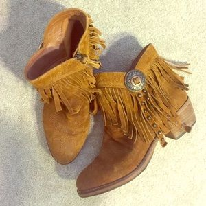 "Sam Edelman Shoes - Sam Edelman ""Sidney"" Fringe Ankle Boot"