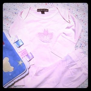 Barefoot Dreams Other - NWT Barefoot Dreams Baby 2-Pc Outfit Sz XS 3-6M👑