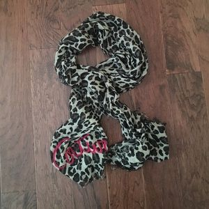 Juicy Couture Leopard Print Scarf!