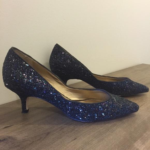 7cba0101069 Badgley Mischka Shoes - Badgley Mischka Puma Glitter Kitten Heels Belle
