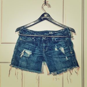 Hurley Cropped Jean Shorts