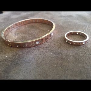 Jewelry - Brand new Rose gold Roman numeral set