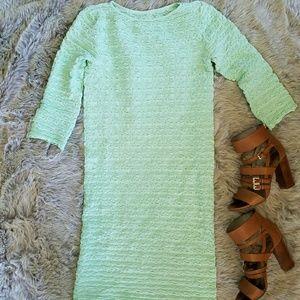Tees by Tina Dresses & Skirts - Mint Waffle Knit Maternity Midi Dress