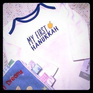 Carter's Other - NWT Carter's My First Hanukkah Onesie Sz 18M🕍