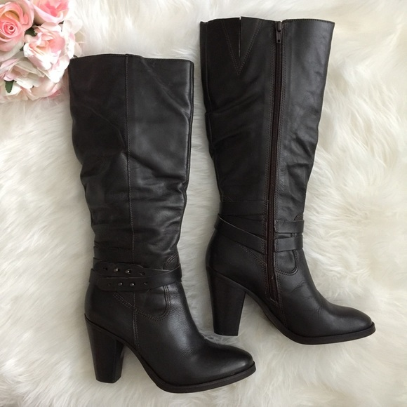 53% off Matisse Shoes - Matisse Dark Brown Knee High Heeled Boots ...