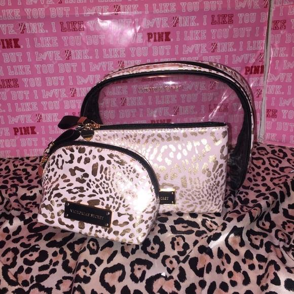 64225b7c3c Vs cosmetic bag travel makeup case 3 pic set