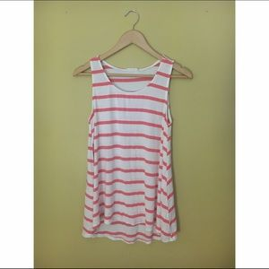 Modcloth Pink and White Striped Tank Top