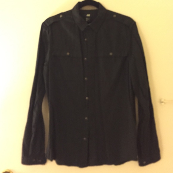 71% off H&M Other - H&M men's black button down shirt. from Mike's ...