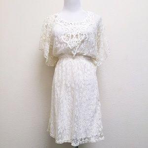 HeartSoul Dresses & Skirts - Cream Lace Dress