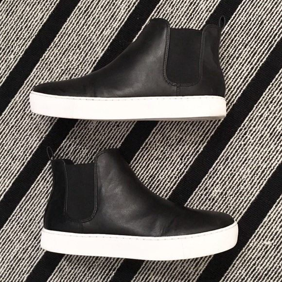 Hm Black High Top Flat Ankle Boots Size