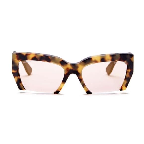 42553fc56af3 Miu Miu Rasior + Tortoise Half Rim Sunglasses