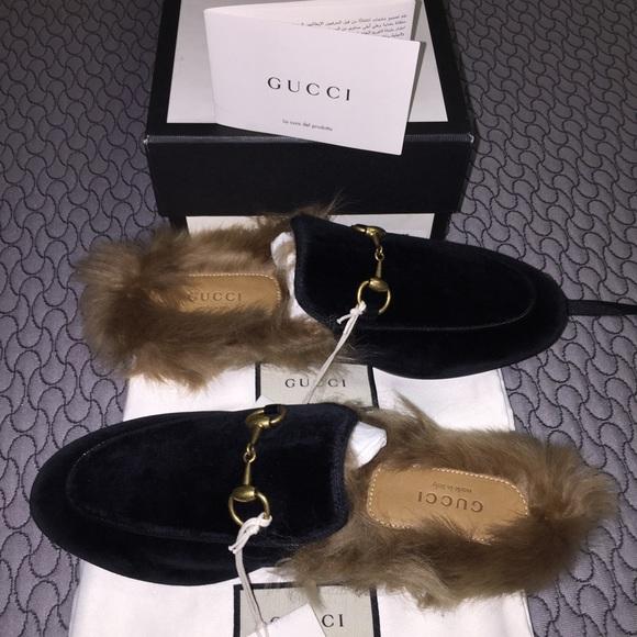c5387d8c443 Gucci Velvet Fur Lined Loafer