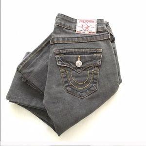 True Religion bootcut gray denim jeans size 26